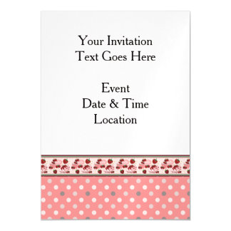 Pink With Cream Dots Pattern With Border Magnetic Card