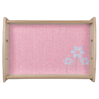 Pink with flower food trays