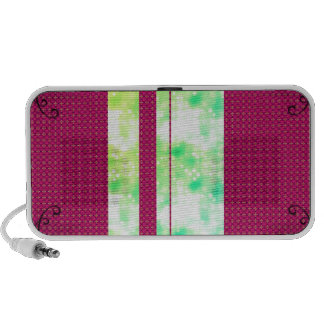 Pink with Green Glitter iPod Speakers
