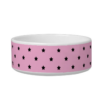 Pink with little black stars. bowl