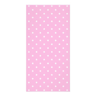 Pink with little white stars. photo greeting card