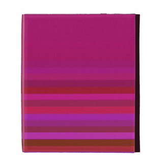 Pink with Stripes iPad Folio Cover