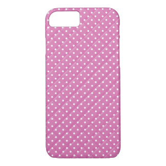 pink with white polka dot quilt design iPhone 8/7 case