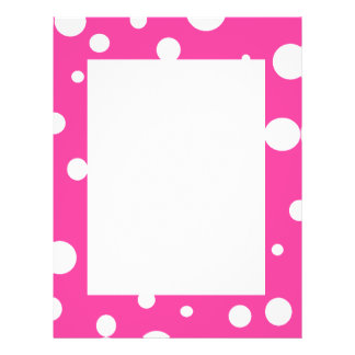 Pink with White Polka Dots Girly Fun 21.5 Cm X 28 Cm Flyer