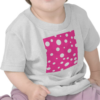 Pink with White Polka Dots Girly Fun T-shirt