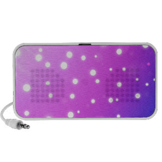 pink with white polkadots portable speaker