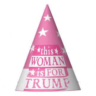 Pink Woman for TRUMP Party Hats