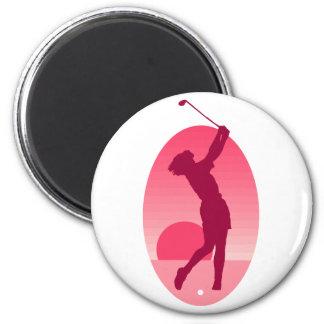 Pink Women s Golf Fridge Magnets