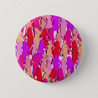 Pink Women Silhouette 6 Cm Round Badge
