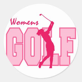 Pink Women's Golf Sticker