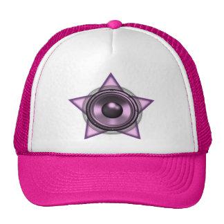 Pink Womens Sub Bass Woofer Star Hats