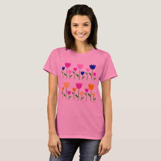 PINK WONDERFUL LADIES TSHIRT WITH TULIPS