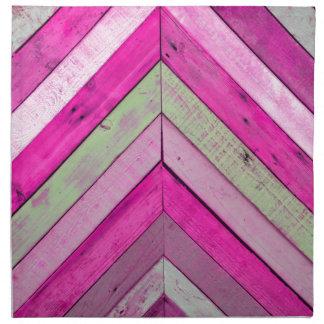 Pink wood napkin