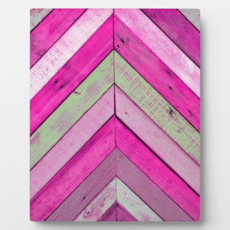 Pink wood plaque
