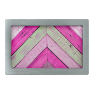 Pink wood rectangular belt buckles