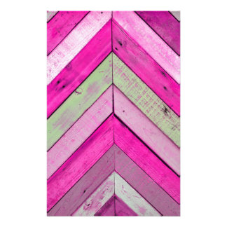 Pink wood stationery
