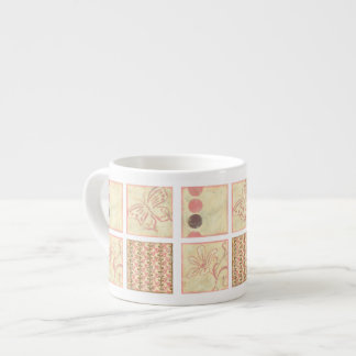 Pink Woodblock Drawings by Chariklia Zarris Espresso Cup