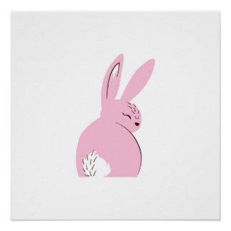 Pink Woodland Rabbit