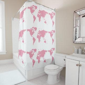 pink world girly bathroom shower curtain
