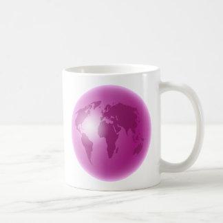 Pink World Globe Mugs