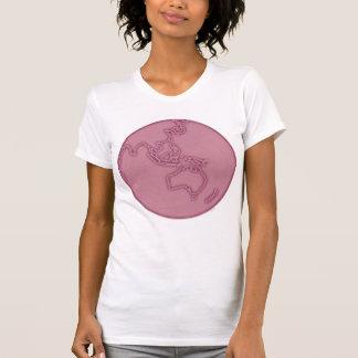 pink world globe travel vintage Australia design T-Shirt