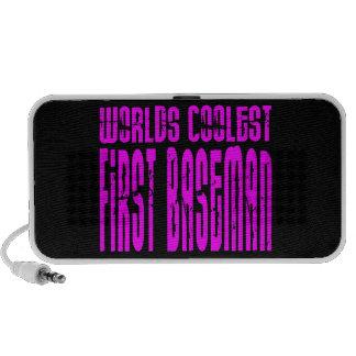 Pink Worlds Coolest First Baseman iPod Speaker