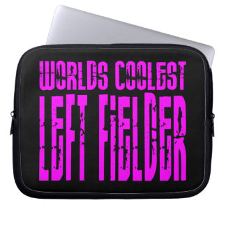 Pink Worlds Coolest Left Fielder Computer Sleeves