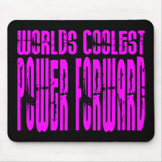 Pink Worlds Coolest Power Forward Mouse Pad