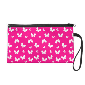 Pink Wristlet with butterfly