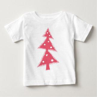 pink Xmas tree Baby T-Shirt