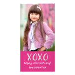 Pink XOXO Valentine Photo Card