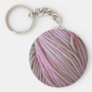 Pink Yarn Key Ring