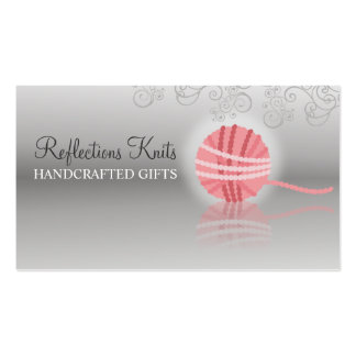 pink yarn reflection knitting crochet gift tag pack of standard business cards