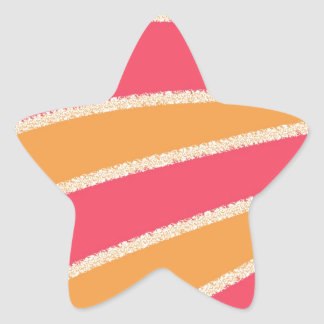 Pink Yellow Abstract Star Sticker