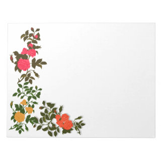Pink, Yellow and Orange Roses Notepad