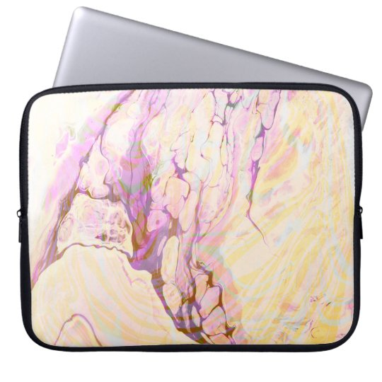 Pink Yellow And Purple Marble Stone Laptop Sleeve