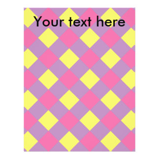 Pink yellow argyle on violet full color flyer