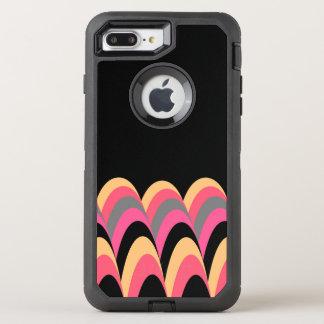 Pink Yellow Black Stylish Pattern OtterBox Defender iPhone 8 Plus/7 Plus Case
