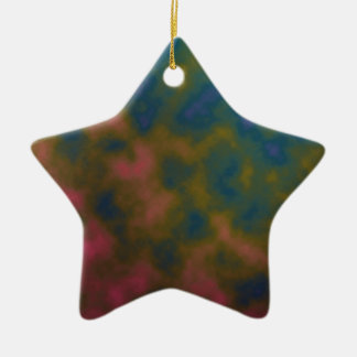 pink yellow blue tie dye art christmas ornament