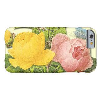 Pink Yellow Botanical Roses iPhone 6 case