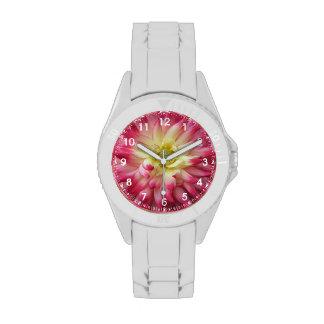 Pink/Yellow Chrysanthemum Watch