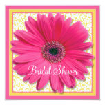 Pink Yellow Gerbera Daisy Bridal Shower Invitation