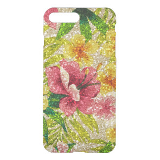 Pink & Yellow Glittery Flowers iPhone 8 Plus/7 Plus Case