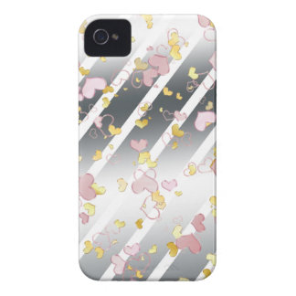 Pink & yellow hearts iPhone 4 case