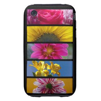 Pink & Yellow Macro Flowers iPhone 3 Tough Case