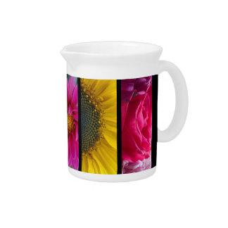 Pink & Yellow Macro Flowers Pitcher