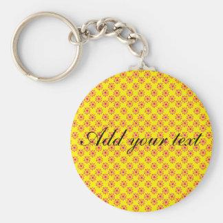Pink & yellow stars keychains
