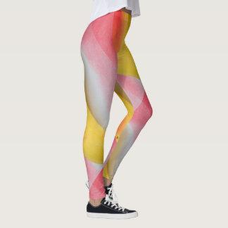 Pink Yellow Swirly Girly Leggings