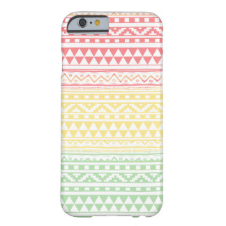 Pink Yellow Watercolor Aztec Tribal Print Pattern Barely There iPhone 6 Case