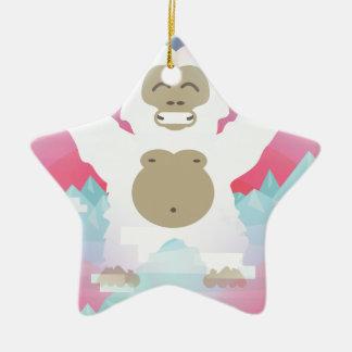 pink yeti christmas ornament